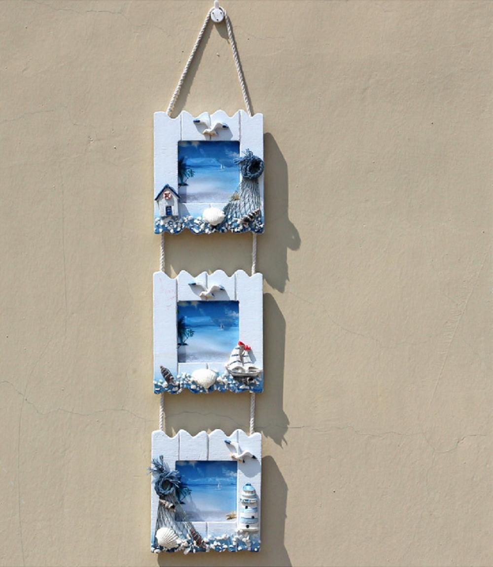 Xiuxiandianju Östliches Mittelmeer-Stil Triple-Foto-Rahmen-Tabelle ...
