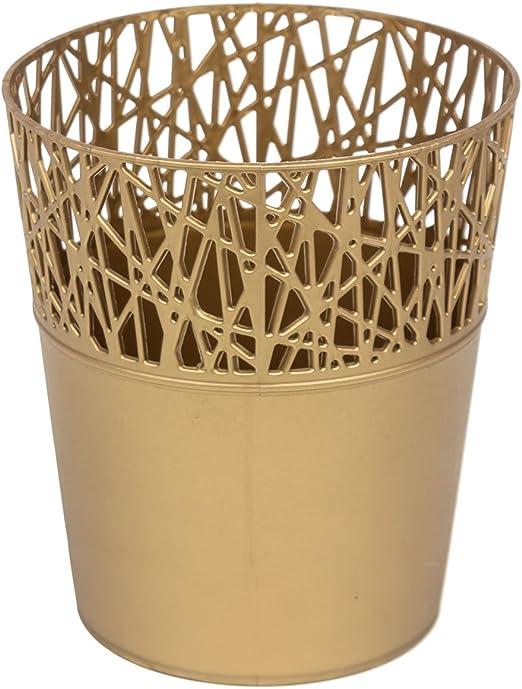 Rond cache-pot 18 cm CITY en plastique romantique style en dor/ée couleur