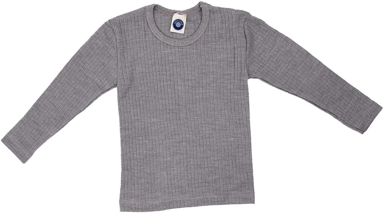 35/% Organic Wool 20/% Silk Children T-Shirt//Undershirt Long Sleeve 45/% Organic Cotton Cosilana