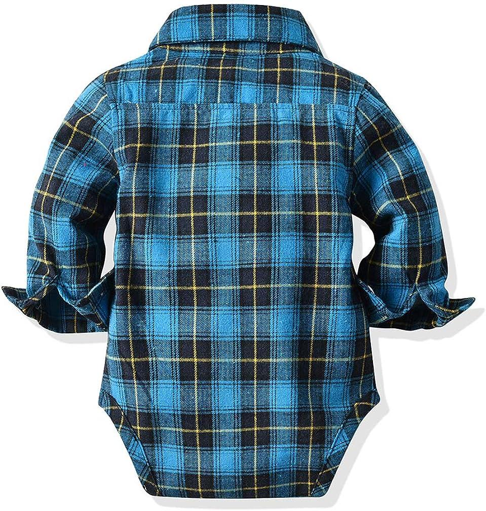 junkai Gentleman Baby Boy Abbigliamento Camicia Neonato Camicetta Abbigliamento Neonato Neonato Tutina Tuta Maniche Lunghe Tuta Neonato