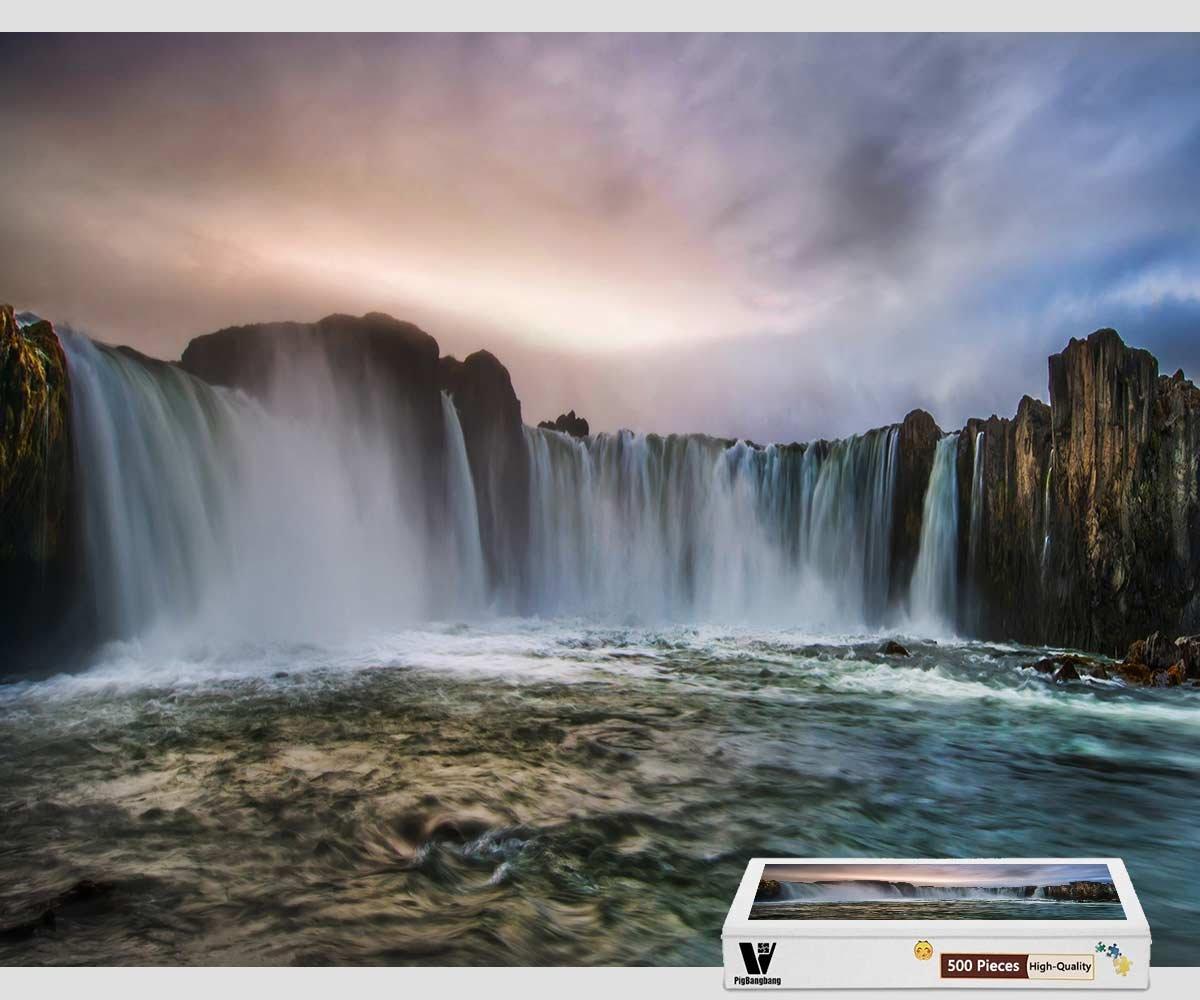 ファッションデザイナー pigbangbang –、20.6 X 15.1インチ、プレミアム木製Unique Iceland B07FLLN7LX Present toファミリNice壁画ポスター – Waterfall in Iceland – 300ピースジグソーパズル B07FLLN7LX, Cos-Precious:6f43d6ee --- a0267596.xsph.ru
