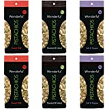 Wonderful Pistachios - 100 Calorie Variety Pack 3 Flavors, 6 Total Bags