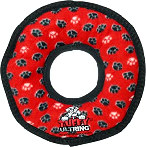 TUFFY - World's Tuffest Soft Dog Toy -Ultimate Ring -Squeakers-Multiple Layers.Made Durable, Strong & Tough.Interactive Play(Tug, Toss & Fetch).Machine Washable & Floats