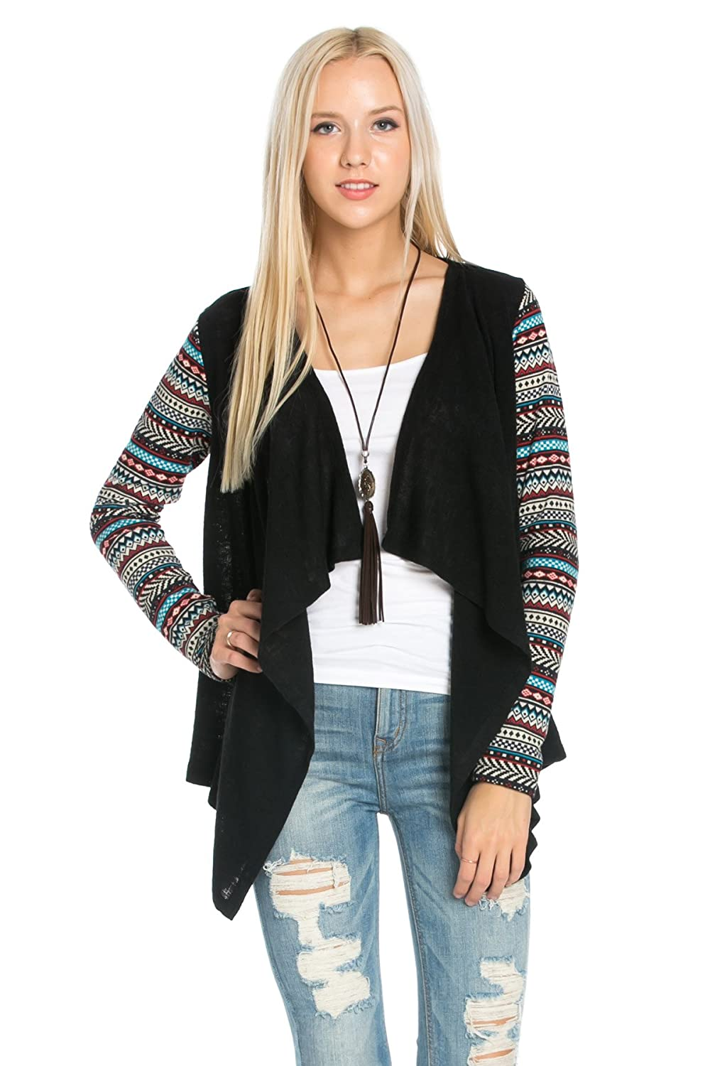 Woman's open fornt sweater cardigan