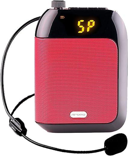 Aporo T9 15W Voice Amplifier Loudspeaker FM Wireless Mic For Coach Teacher NEW