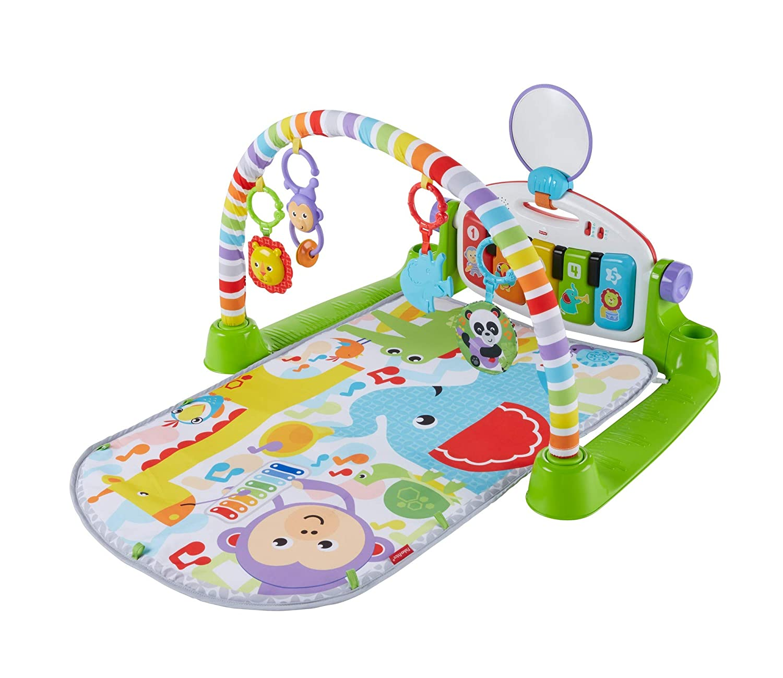 Fisher-Price Gimnasio Piano Pataditas superaprendizaje, manta de juego bebé (Mattel FWT12)
