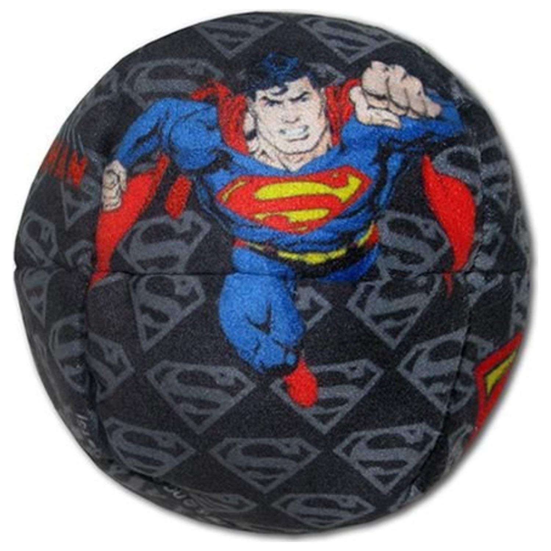 Adventure Trading Super Hero Paneled Professional Footbag Hacky Sacks - Superman Figures & Logos