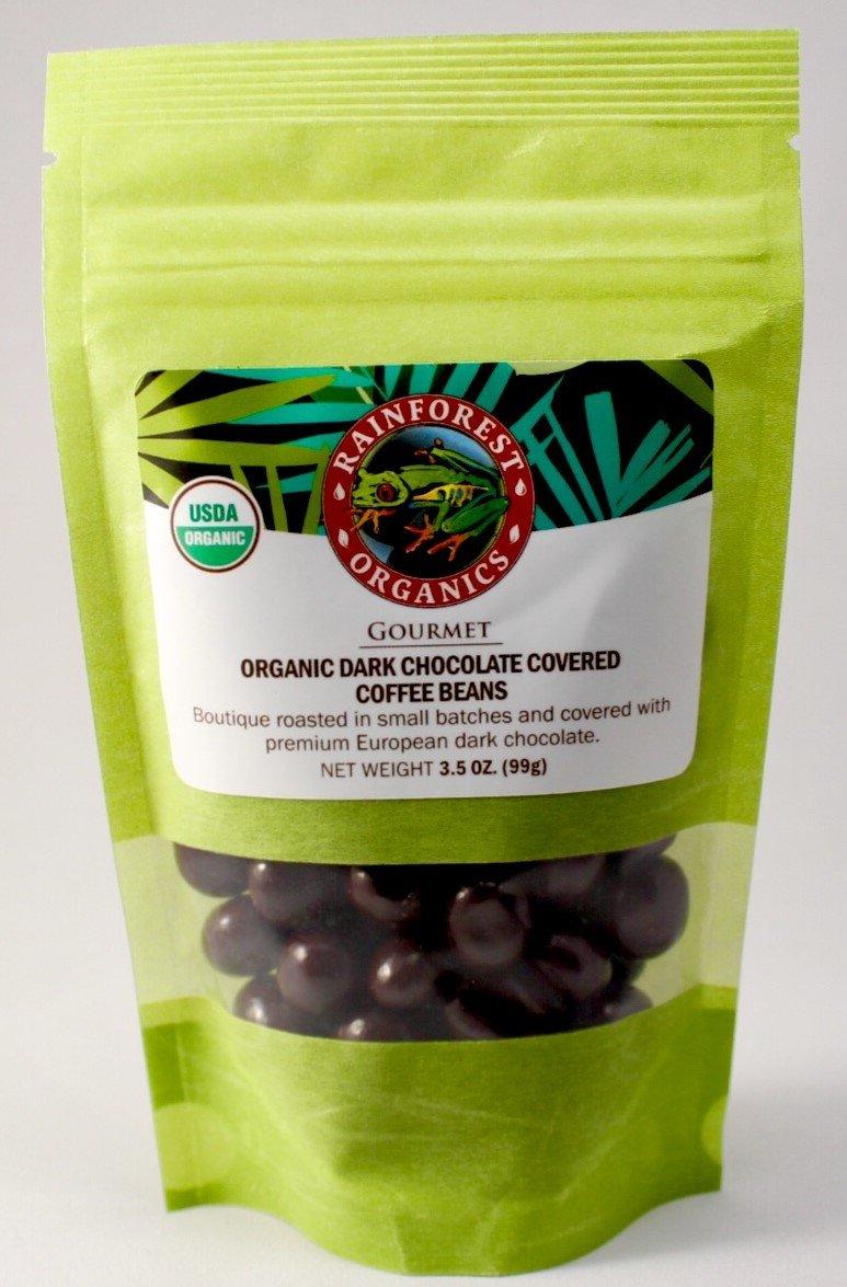 Rainforest Organics: Organic Dark Chocolate Covered Coffee Beans