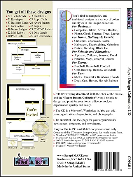 amazon com scrapsmart paper designs software collection jpeg