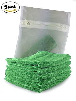 Productos Viridis – Paquete de 5 de coche verde y exterior de microfibra paños – completa