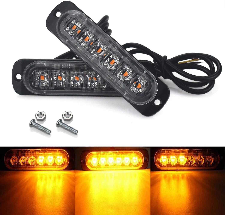 Alta chiave universale 4pcs ambra LED Cree 6/recupero stroboscopici luce lampeggiante ripartizione lampada grill 12/V//24/V