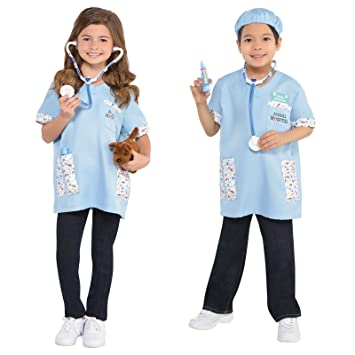 Boys Girls Surgeon Costume Kids School Book Week Fancy Dress Oufit Hospital