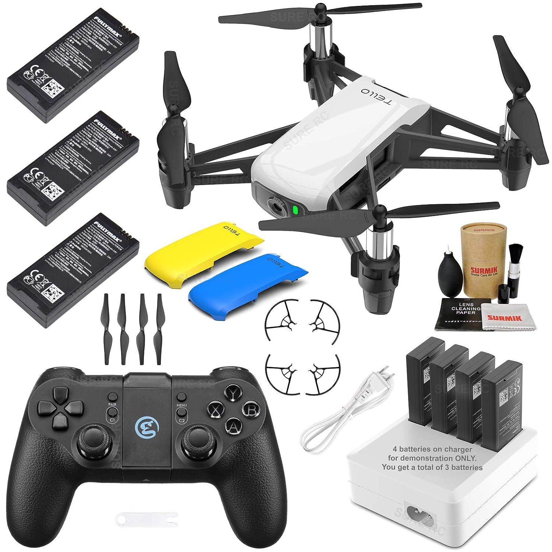 Tello Drone Quadcopter Elite MAX Combo con 3 baterías, Mando a ...