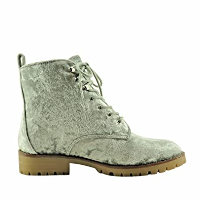 Randonneuse Velours Talon Quebecois Botte - Velours Gris ANMKVs