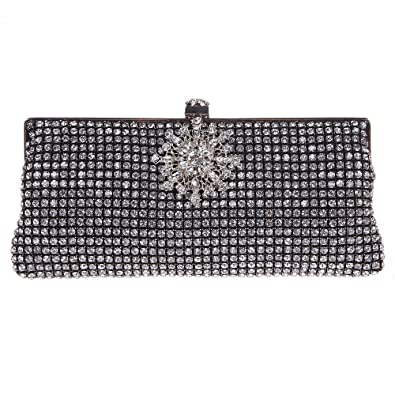 0495d802b0 Amazon.com  Fawziya Floral Clutch Crystal Clutches And Evening Bags For Womens  Purses-Black  Fawziya Official Store