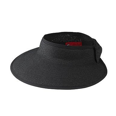 42322b1faf1808 San Diego Hat Company Women's Ultrabraid Visor O/S Black at Amazon Women's  Clothing store: Visors Headwear
