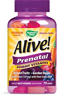 Prenatal Premium Gummy Multivitamin with DHA, Fruit and Veggie Blend (