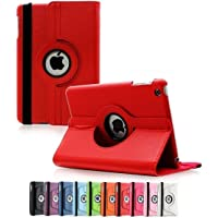 360 Degree Rotating Leather Case Cover for Apple iPad Air 2 (Red)