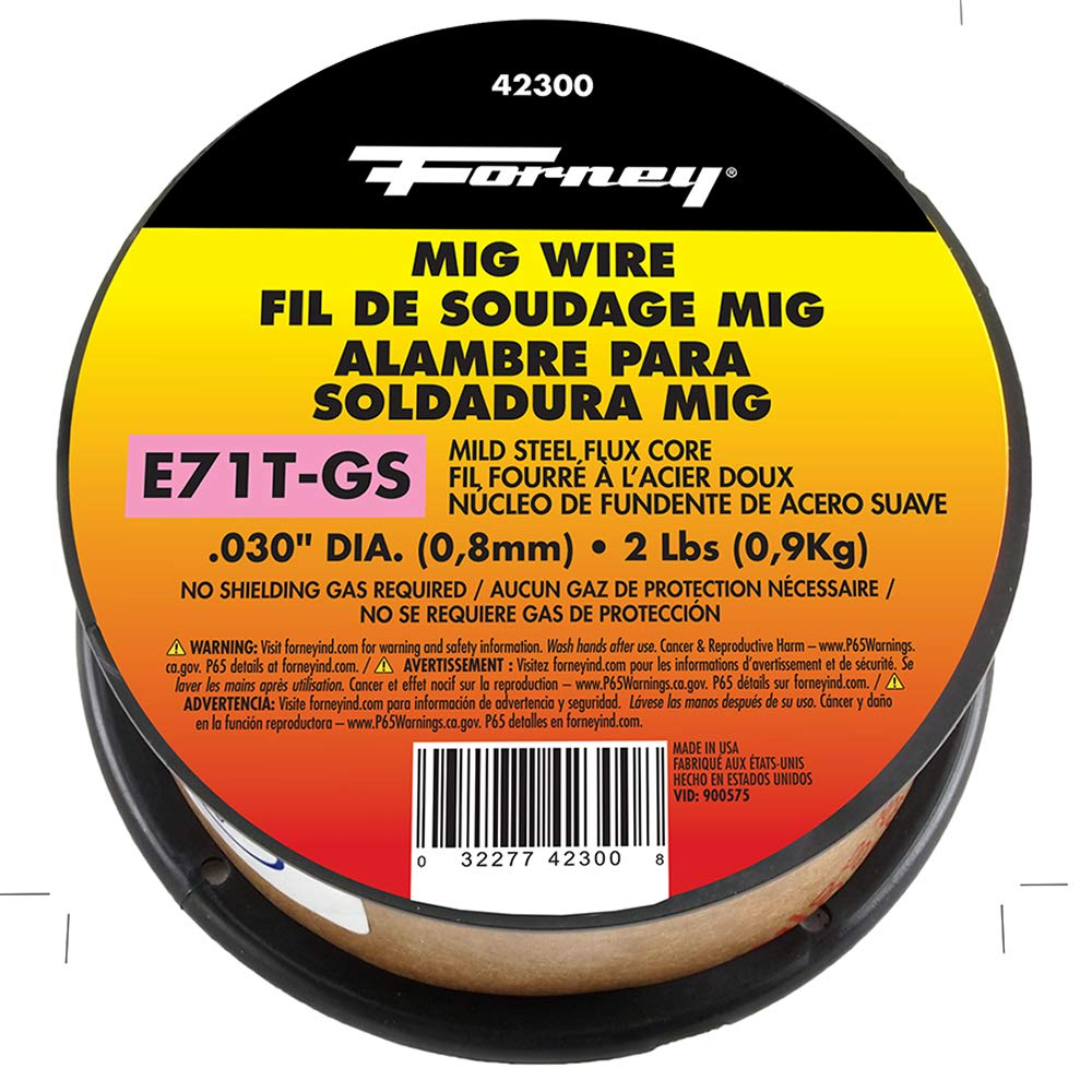 Forney 42300 Flux Core Mig Wire, Mild Steel E71TGS.030-Diameter, 2-Pound Spool by Forney