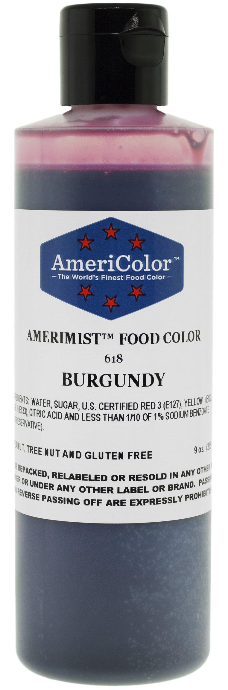 AmeriColor AmeriMist Burgundy Airbrush Food Color, 9 oz