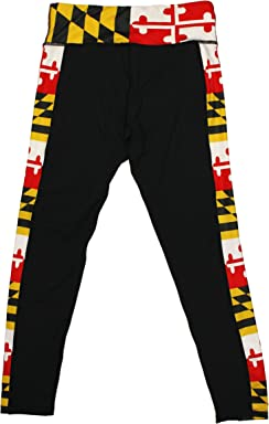 7a09efcd8 Route One Apparel | Maryland Flag Side Leggings in Black