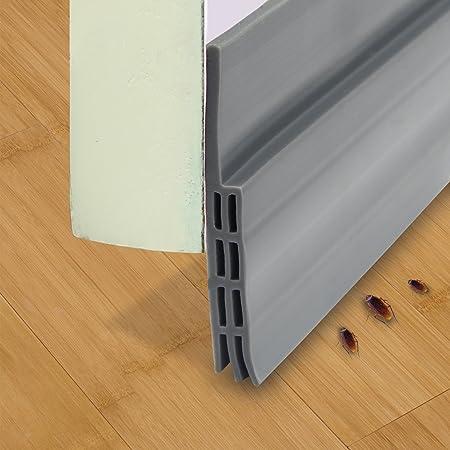Parte inferior de la puerta burlete – clima para desmontar, silicona de sellado de la puerta autoadhesiva (2