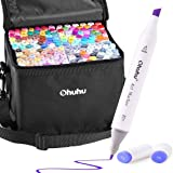 160 Colors Alcohol Art Markers Set, Ohuhu Dual Tips (Fine & Chisel) Coloring Permanent Marker Pens for Kids, Alcohol…