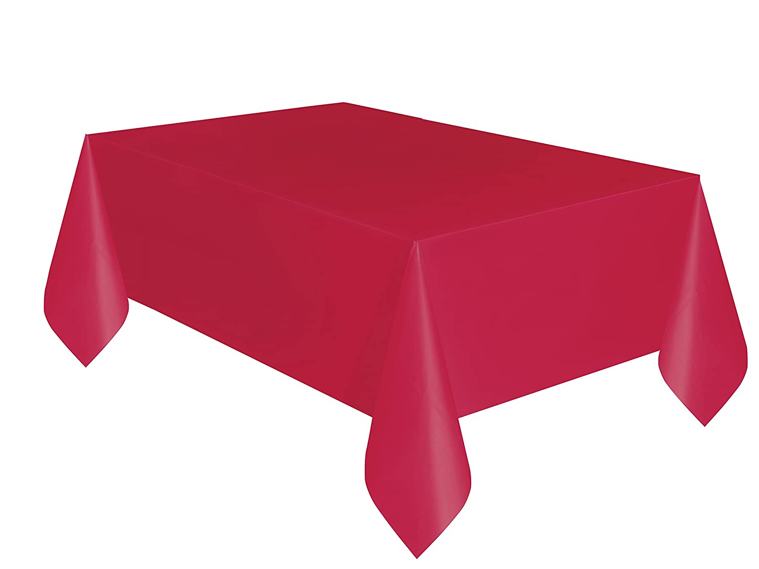 Amazon.com: Unique Plastic Table Cover Rectangle   Ruby Red: Kitchen U0026  Dining