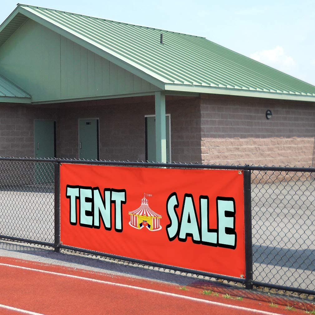 Multiple Sizes Available Vinyl Banner Sign Tent Sale Orange Blue Business Sale Marketing Advertising Orange Set of 2 32inx80in 6 Grommets