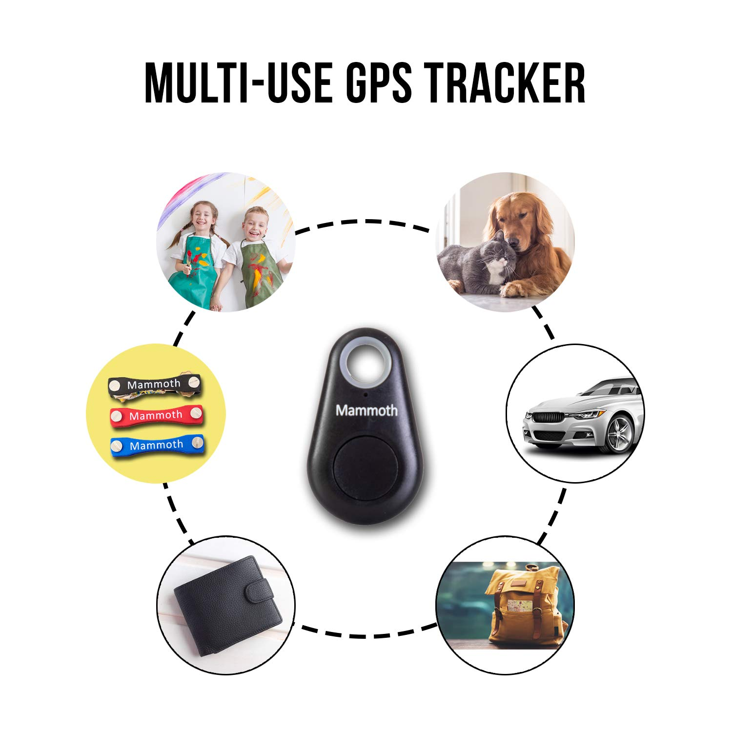 Amazon.com: Organizador de llaves con mini rastreador GPS ...