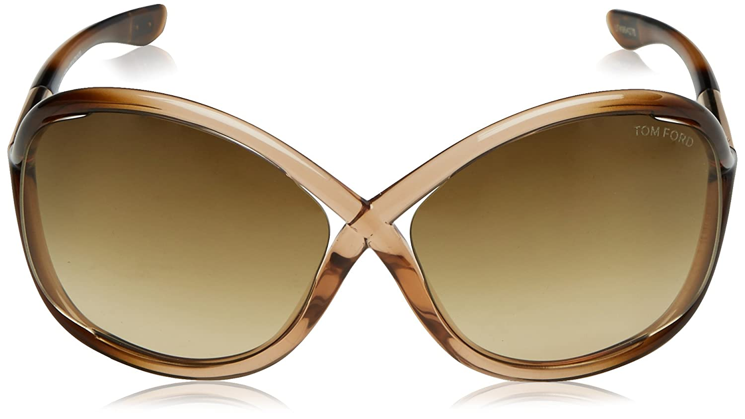 d20130ab4695a Tom Ford Women s Gradient Whitney FT0009-74F-64 Brown Butterfly Sunglasses  Tom  Ford  Amazon.ca  Luggage   Bags