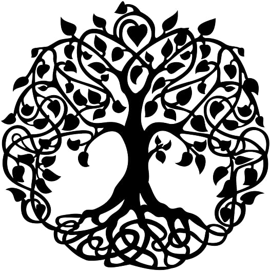 Master Cut Tree of Life Metal Wall Art Wall Hanging Sculpture for Home D cor Wall D cor Abstract Wall Art, Material – Mild Steel with Black Powder Coated, Size – H 30 x W 30 – 2mm Thickness