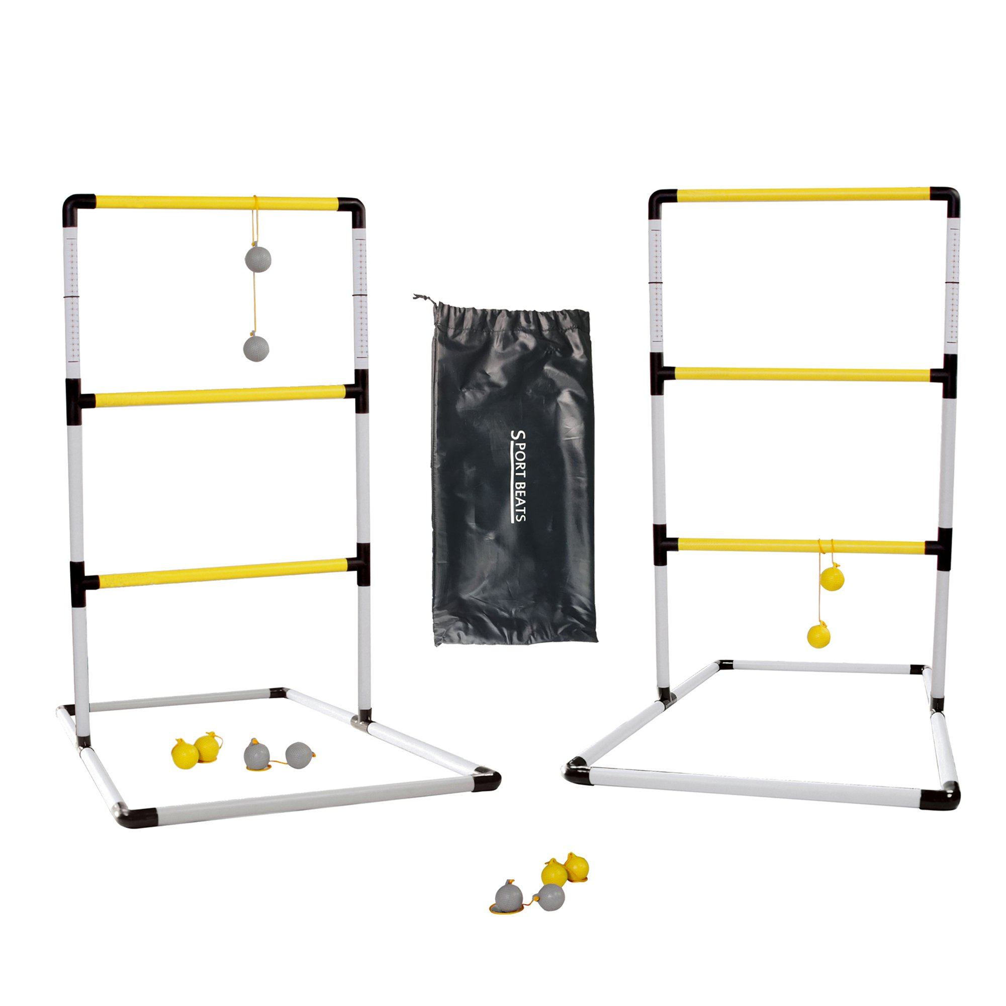 SPORT BEATS Ladder Ball Games Set with Carrying Case, Premium Ladder Toss for Indoor/Outdoor