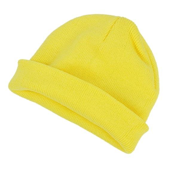 SODIAL(R) Gorra para ninos dulzura Sombrero de nina Sombrero gorroe Sombrero  de punto para chicas bebe ninos amarillo  Amazon.es  Ropa y accesorios fa4d7ba6846