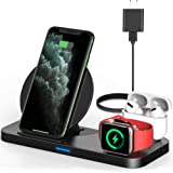 Powlaken 3 in 1 Wireless Charger, Wireless Charging Station Compatible for Apple iWatch Series SE 6 5 4 3 2 1, AirPods…