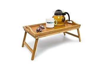 Bambus Frühstückstablett Bett Tablett Serviertisch Holz Amazonde