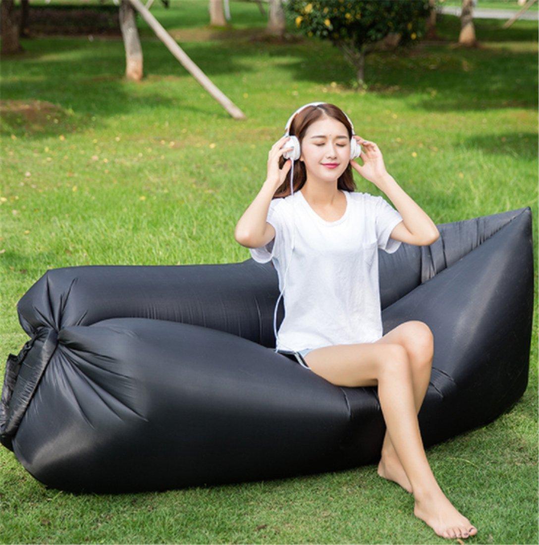 Yeying123 Aufblasbares Sofa-Im Freien Tragbare Luft-Sofa-Taschen-Aufblasbare Blatt-Freizeit-Schnelles Aufblasbares Bett-Liege-Strand-Sofa,5