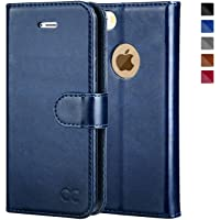OCASE iPhone 5 Case iPhone 5S Case [Free Screen Protector Included] Leather Wallet Flip Case for iPhone 5 / 5S / SE Devices - Blue