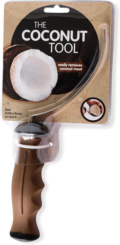 The Coconut Tool 30908 - Cuchillo para eliminar carne de coco (acero inoxidable)