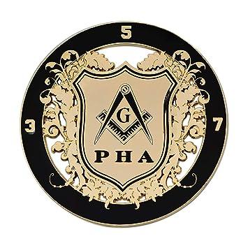 Amazon Com Prince Hall Round Black Gold Masonic Auto Emblem 3