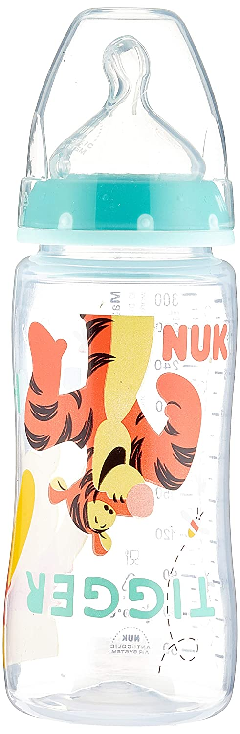 NUK 10741608/ First Choice Disney Winnie the Pooh Saugflasche mit Silikonsauger
