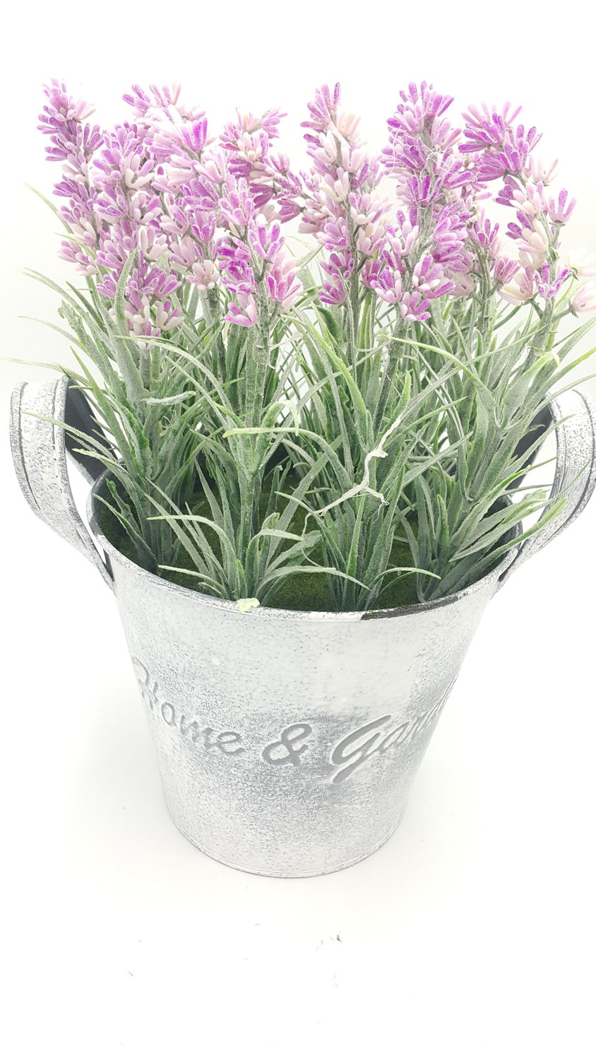 LODESTAR-Artificial-Fake-Lavender-Flower-Bouquet-in-Rustic-Can-Metal-Basket-Indoor-Outdoor-Home-Decoration