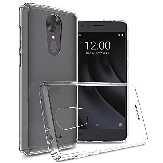 super popular d68b6 f791f T-Mobile REVVL Plus Case, CoverON ClearGuard Series Slim Fit Durable Hard  Phone Cover with TPU Shock Absorbing Grip Bumpers - Crystal Clear