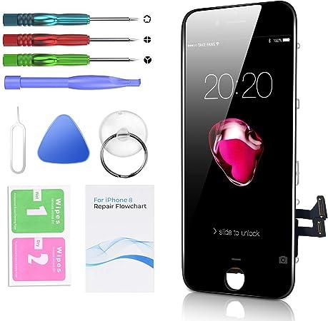 Htechy Kompatible Mit Iphone 8 Display Schwarz Ersatz Elektronik
