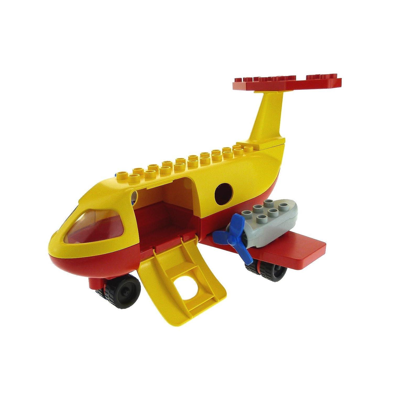 1 x Lego Duplo Flugzeug gelb rot Passagier Jet Propeller groß für Set 2641 dup003 2155 dupwheel01c01 2156 2157 2150c01