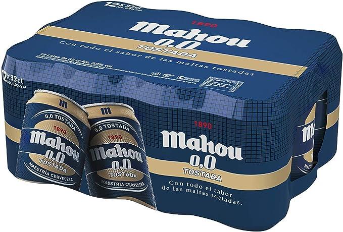 Mahou 0,0% Tostada Pack de 12 latas 33 cl: Amazon.es: Alimentación y bebidas