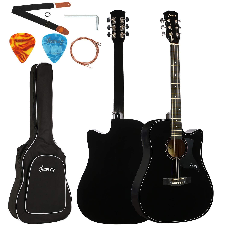JUAREZ JRZ41C 41 Inch Acoustic Guitar With Acc (Black)