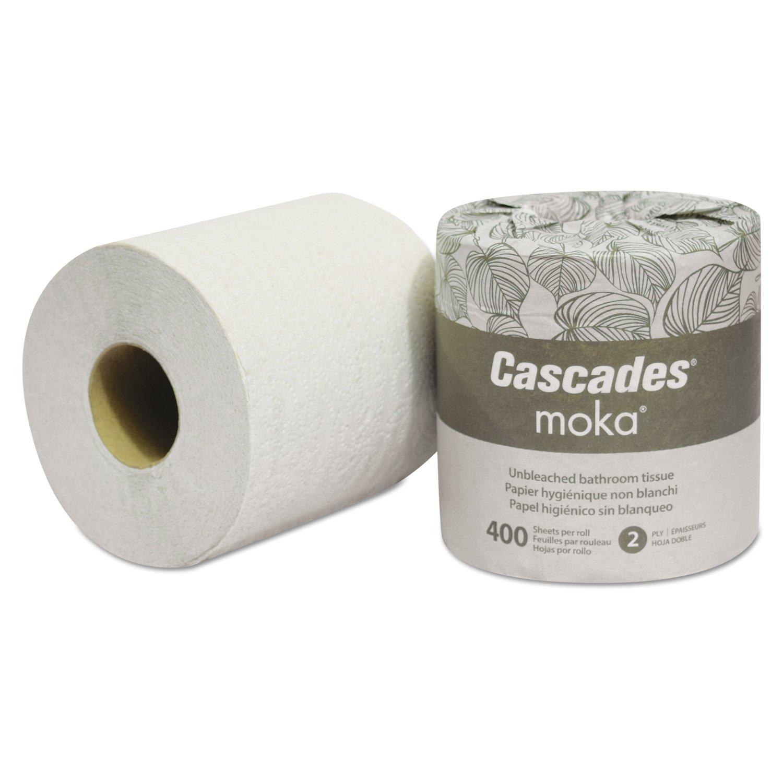Cascades 4134 Moka Standard Bath Tissue 2-Ply, 4 5/16'' x 3.825'', 400/Roll, Beige (Pack of 80) by Cascade (Image #1)