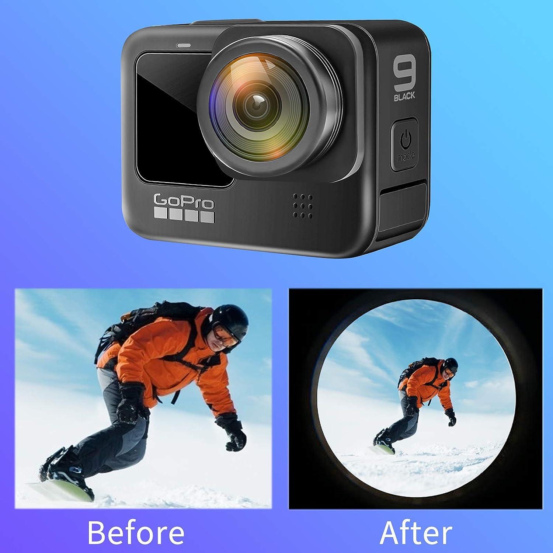 180/° Fisheye Lens Perfectly Compatible with Gopro Hero 9 UVFL-G9 USKEYVISION Fisheye Lens for Gopro Hero 9