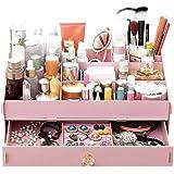 Cdet 1X Desktop Storage Box Stylish Wooden Car Decoration Home Supplies Cosmetic Box Pink